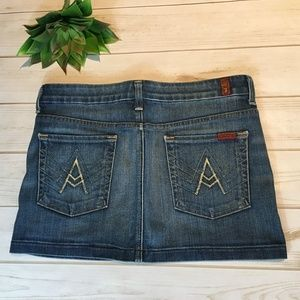 7FAM Mini Skirt in Canyon Ranch	size  28/6
